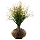 Onion Grass in Oval Decorative Vase