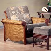 Rattan Floral Rosebud Futon Chair Frame