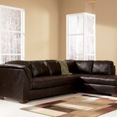 Princeton Leather Sleeper Sectional
