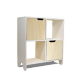 Hiya Bookcase in Birch / White