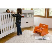 Hiya Two Piece Convertible Crib Set in White