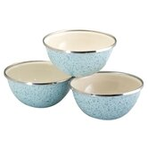 3 Piece Enamel on Steel Prep Bowl Set in Blue