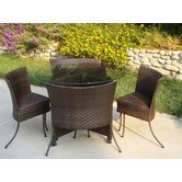 Wicker 5 Piece Dining Set