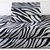 Dreamy Linens Zebra Black Sheet Set