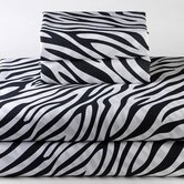 Dreamy Linens Zebra Black Bedding Collection