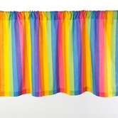 Colorful Rainbow Print Valance