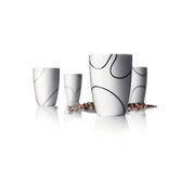 Pernille Vea Black Contour Medium Thermo Cup - Set of 4