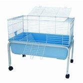 Small Animal Cage with Stand in Blue
