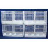 Lot of Four Medium Bird Breeding Cages with Divider