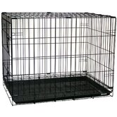 Foldable Light Duty Door Dog Crate With Bottom Grate