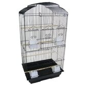"3/8"" Bar Spacing Tall Shell Top Bird Cage"