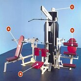 Multi-Station Commercial 4 Stack Gym with Optional Weight Stack Shrouds