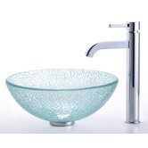 Broken Glass 14&quot; Vessel Sink and Ramus Faucet