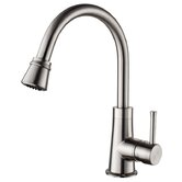 One Handle Single Hole High Neck Kitchen Faucet with Water and Temperature Control
