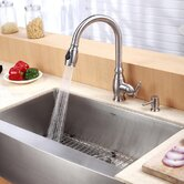 "Farmhouse 30"" Kitchen Sink with Faucet and Soap Dispenser"