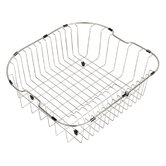 "Kitchen Accessories 20"" Stainless Steel Rinse Basket for Kitchen Sink in Chrome"