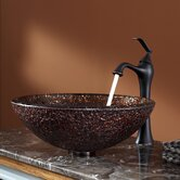 Venus Glass Vessel Sink and Ventus Faucet