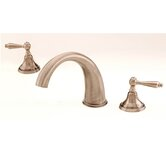 Mediterranean Double Handle Deck Mount Roman Tub Faucet Trim Lever Handle