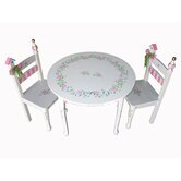 Princess Rose Kids' 3 Piece Table and Chair Set
