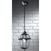 Nerezza Exterior Chain Suspended Lantern Pendant in Dark Grey