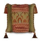 Botham Polyester Collage Decorative Pillow with Tassels
