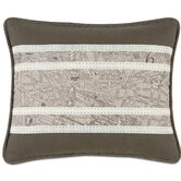 Daphne Polyester Trompe Insert Decorative Pillow