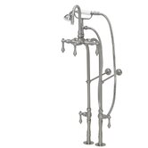 200 Series Solid Brass Bath Tub Faucet with Floor Mount Supply Lines