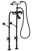 90 Series Double Handle Floor  Mount Clawfoot Tub Faucet