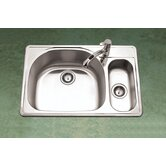 Premiere Reflection Topmount Double Bowl 80/20 Kitchen Sink