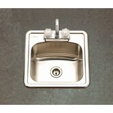 Hospitality Topmount 19 Gauge Bar Kitchen Sink in Satin