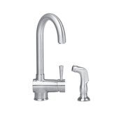 Deco Single Handle Single Hole Kitchen Faucet with Side Spray