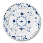 "Blue Fluted Full Lace 10.75"" Dinner Plate"