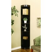 Tray Five-Shelves Corner Display Cabinet / Stand in Coffee Bean