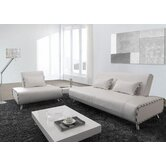 Essence Leatherette Convertible Sofa Bed and Chair Set