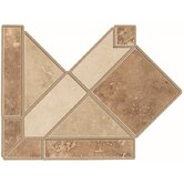 Midori Border Corner Tile Accent in Multi-color