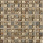 "Mixed Up 1"" x 1"" Mosaic Slate Accent Tile in Denali"