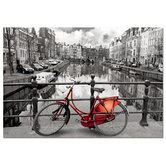 1000 Piece Black and White with Color Amsterdam Puzzle