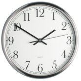 25cm Polished Stainless Steel Clock, Display Boxed