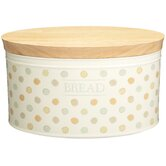 Classic Ceramic Bread Bin with Wooden Lid