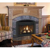 Deluxe Wellington Flush Fireplace Mantel with Large Opening