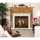 Lewiston Flush Fireplace Mantel with Large Opening