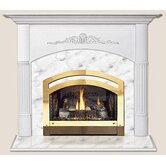 Light Finish Viceroy Flush Fireplace Mantel