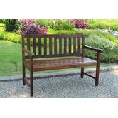 Highland Acacia Wood Garden Bench