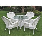 Kingsbury 5 Piece Outdoor Game Patio Dining Set