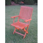 Wyndham Folding Patio Adirondack Arm Chair