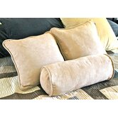 "18"" Futon Micro Suede Pillows with Bolster Package (Set of 3)"