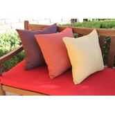 20&quot; Outdoor Solid Throw Pillow (Set of 2)