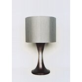 Twister Table Lamp in Smoke with Platinum Shade