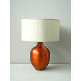 Rubianne Table Lamp in Fire with Pebble Shade