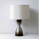 Baby Belle Table Lamp in Charcoal Mocha Fade with Pebble Shade